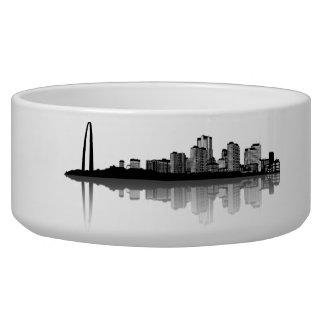 St. Louis Skyline Pet Bowl (b/w)