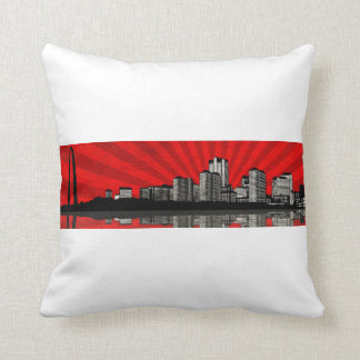 St. Louis Skyline Pillow (2-sided - red & yellow)