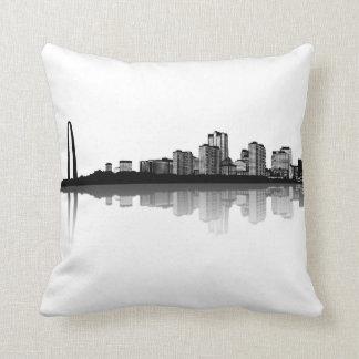 St. Louis Skyline Pillow (b/w)