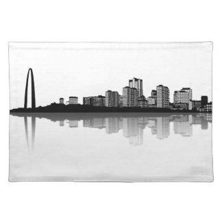 St. Louis Skyline Placemat (b/w) Cloth Place Mat