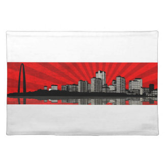 St. Louis Skyline Placemat (red) Cloth Place Mat
