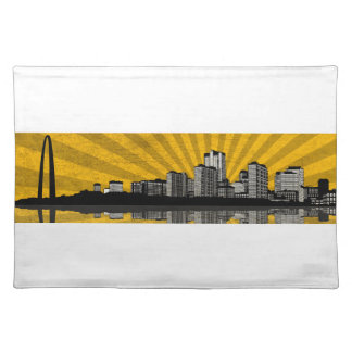 St. Louis Skyline Placemat (yellow) Cloth Place Mat