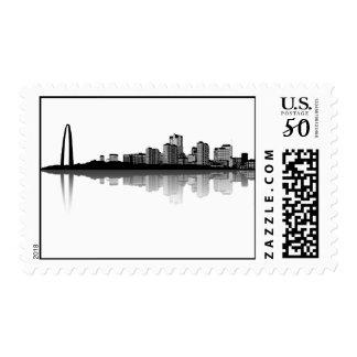 St. Louis Skyline Postage Stamps (b/w)