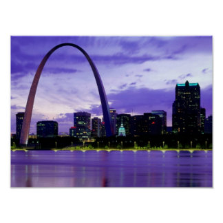 St Louis Skyline Poster