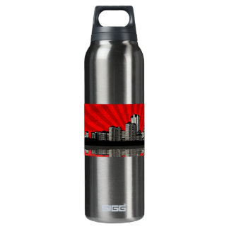 St. Louis Skyline (red) 16 Oz Insulated SIGG Thermos Water Bottle