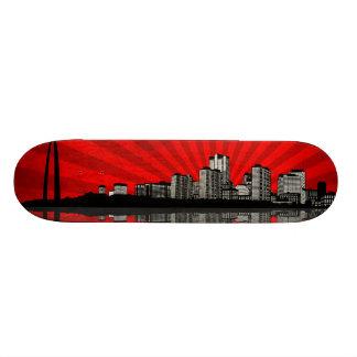 St Louis Skyline Skateboard Deck red