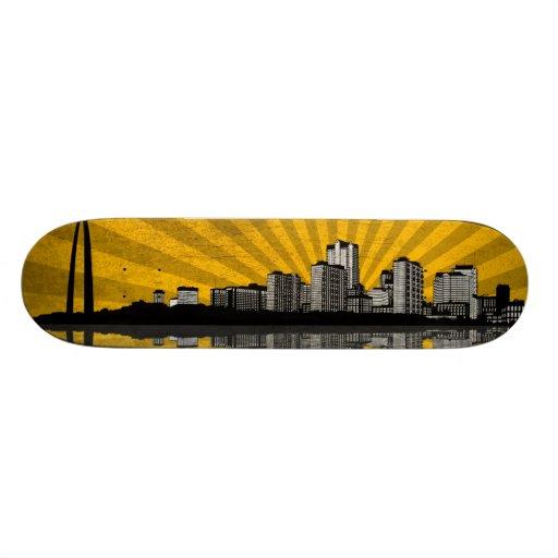 St. Louis Skyline Skateboard Deck (yellow)