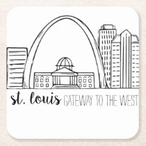 St. Louis Skyline Square Paper Coaster