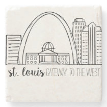 St. Louis Skyline Stone Coaster
