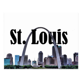 St. Louis Skyline w/ St. Louis in the Sky Postcard
