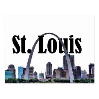 St. Louis Skyline w/ St. Louis in the Sky Postcard