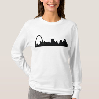 St. Louis Skyline with Rabbit and Cardinal Shirt