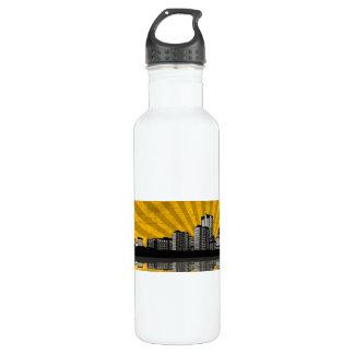 St. Louis Skyline (yellow) 24oz Water Bottle