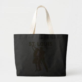 St. Louis Steppers Tote Bag gold silhouette