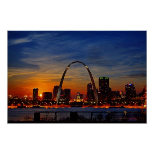St. Louis Sunset Poster