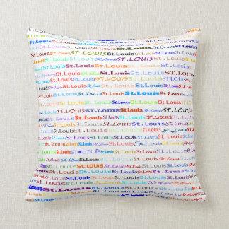 St. Louis Text Design II Throw Pillow