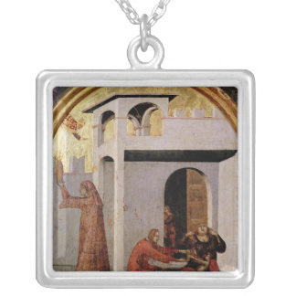 St. Louis Toulouse  appearing at bedside sick Silver Plated Necklace