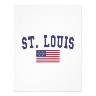 St. Louis US Flag Letterhead