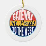 St. Louis Vintage Label Christmas Ornament