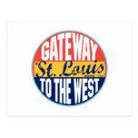 St Louis Vintage Label Postcard