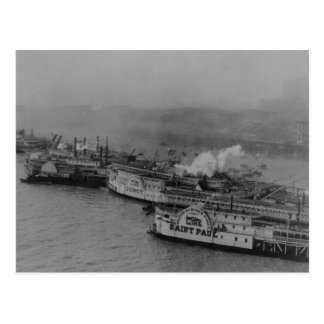 St. Louis Waterfront 1909 Postcard