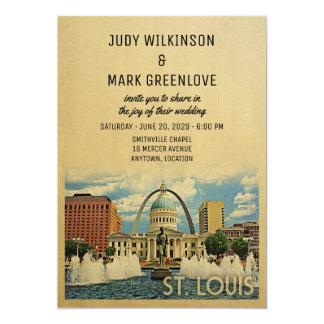 St Louis Wedding Invitation Missouri Saint Louis