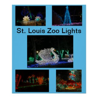 St Louis Zoo Lights Poster