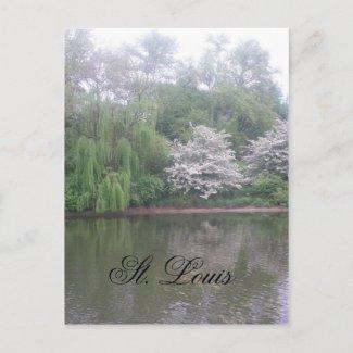 St. louis zoo postcard