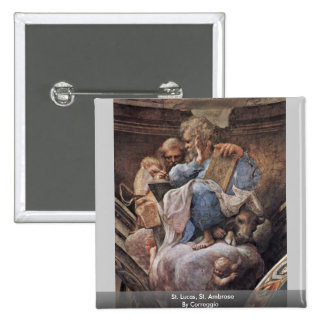 St. Lucas, St. Ambrose By Correggio Buttons