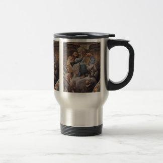 St. Lucas, St Ambrose por Correggio Tazas De Café