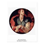 St. Lucas Tondo By Jacopo Pontormo Postcard