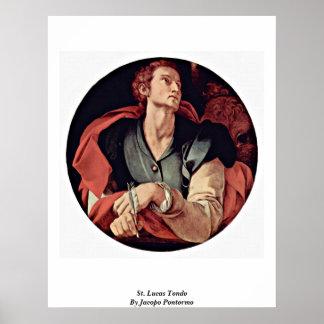 St. Lucas Tondo By Jacopo Pontormo Poster