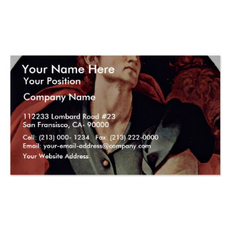 St. Lucas Tondo By Pontormo Jacopo (Best Quality) Business Card Templates