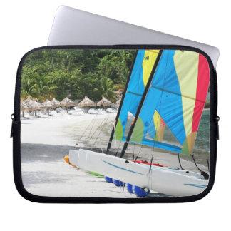 St Lucia Beach Laptop Sleeve