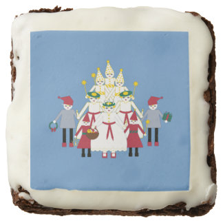 St. Lucia Day Pageant Frosted Brownies