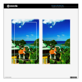 St. Lucia Decals For Kindle Fire