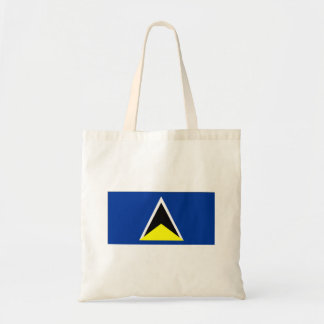 St Lucia Flag Budget Tote Bag