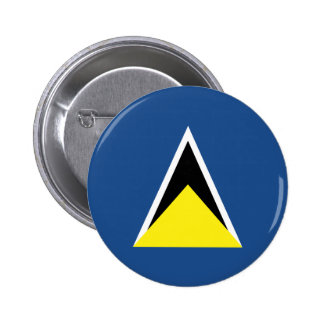 St. Lucia Flag Button