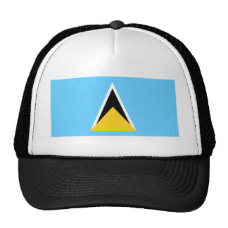 St Lucia Flag Mesh Hats