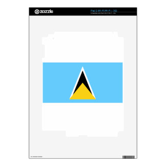 St. Lucia Flag iPad 2 Decals