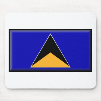 St. Lucia Flag Mouse Pad