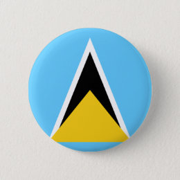 St Lucia Flag Pinback Button