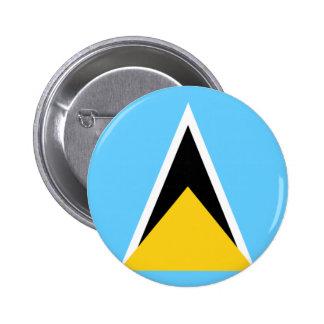 St Lucia Flag Pinback Button