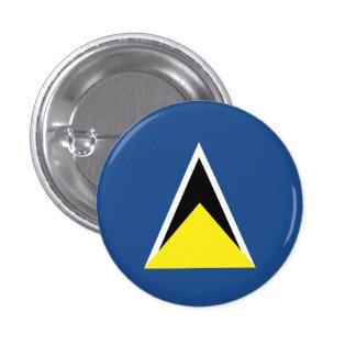 St. Lucia Flag Pinback Button