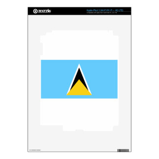St. Lucia Flag Skins For iPad 3