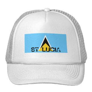 St Lucia flag souvenir hat