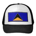 St. Lucia Flag Trucker Hats