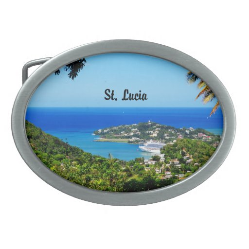 St Lucia Hebillas De Cinturon Ovales