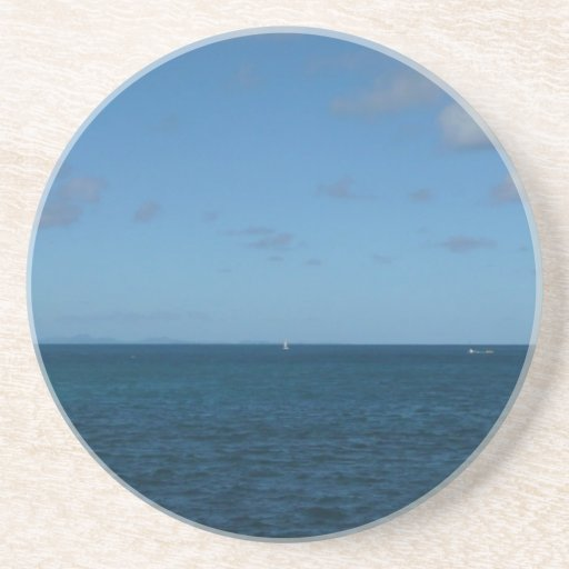 St. Lucia Horizon Blue Ocean Coaster