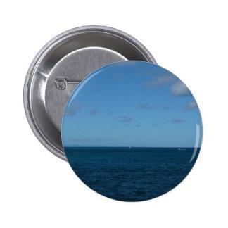 St. Lucia Horizon Blue Ocean Pinback Button